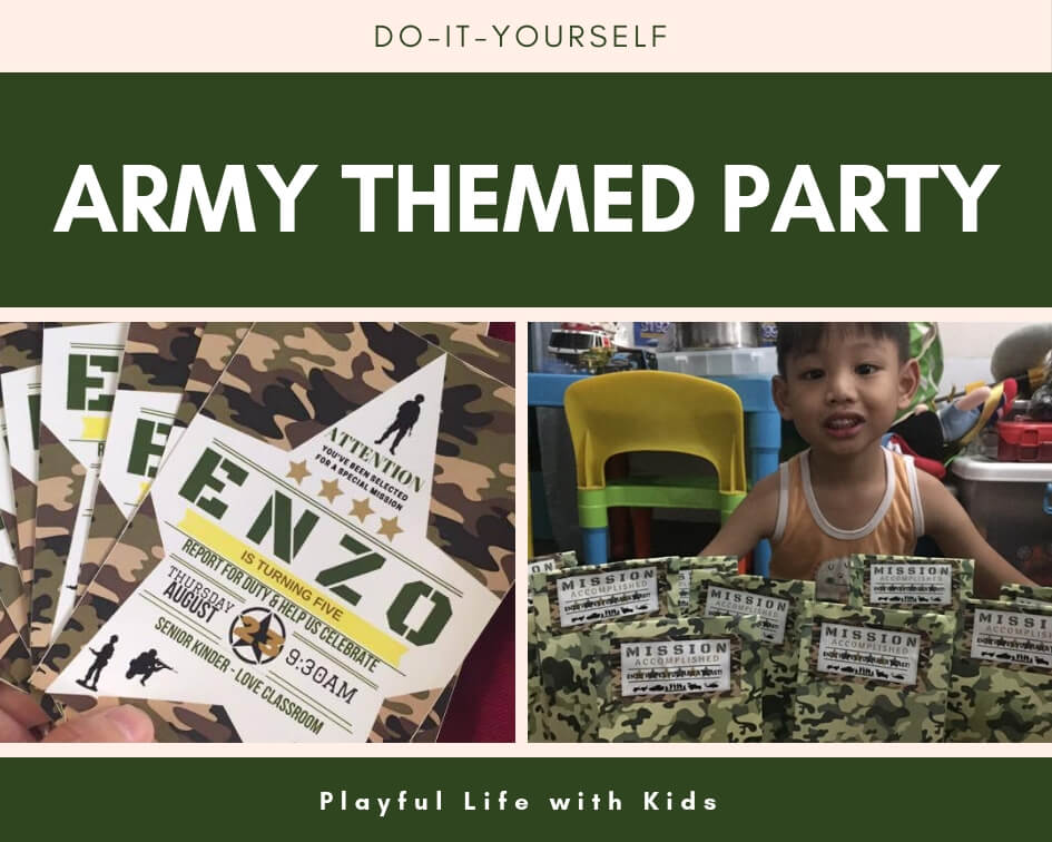 Playful Life with Kids DIY: Army Themed Birthday Party 1