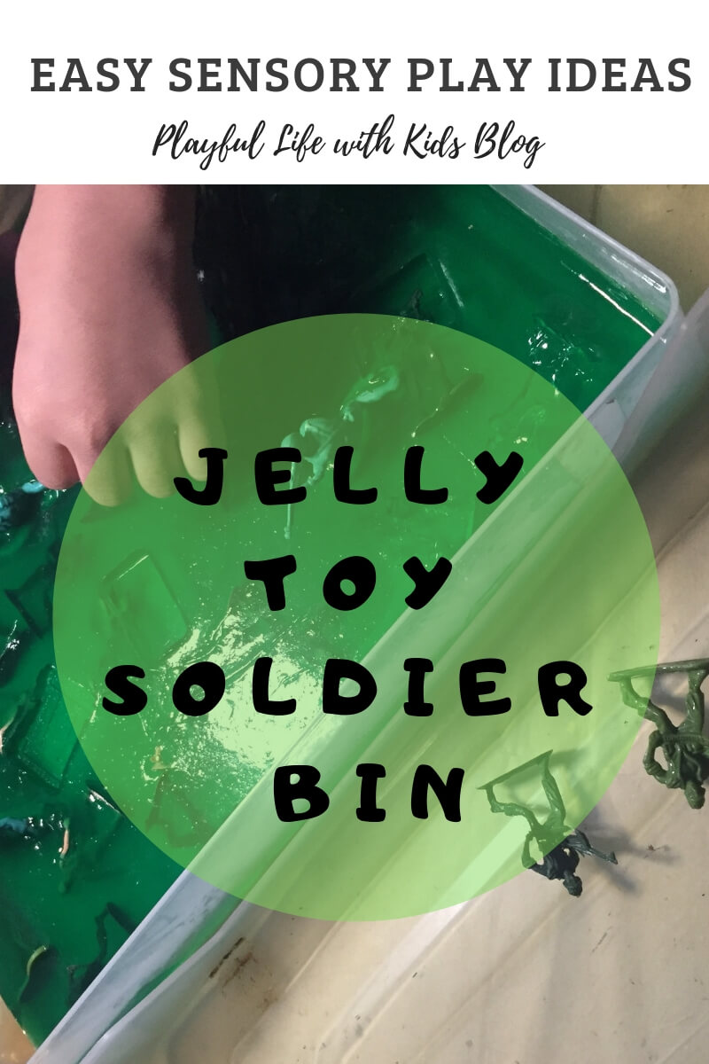 Playful Life with Kids Easy Toy Soldier Sensory Bin 1
