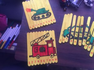 Playful life with kids Teaching Numbers 1 to 10 using Popsicle Sticks 6