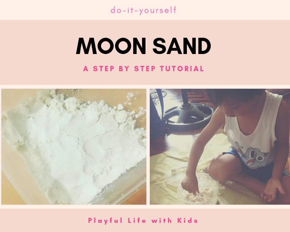 Playful Life with Kids DIY Moon Sand Sensory Tray 1