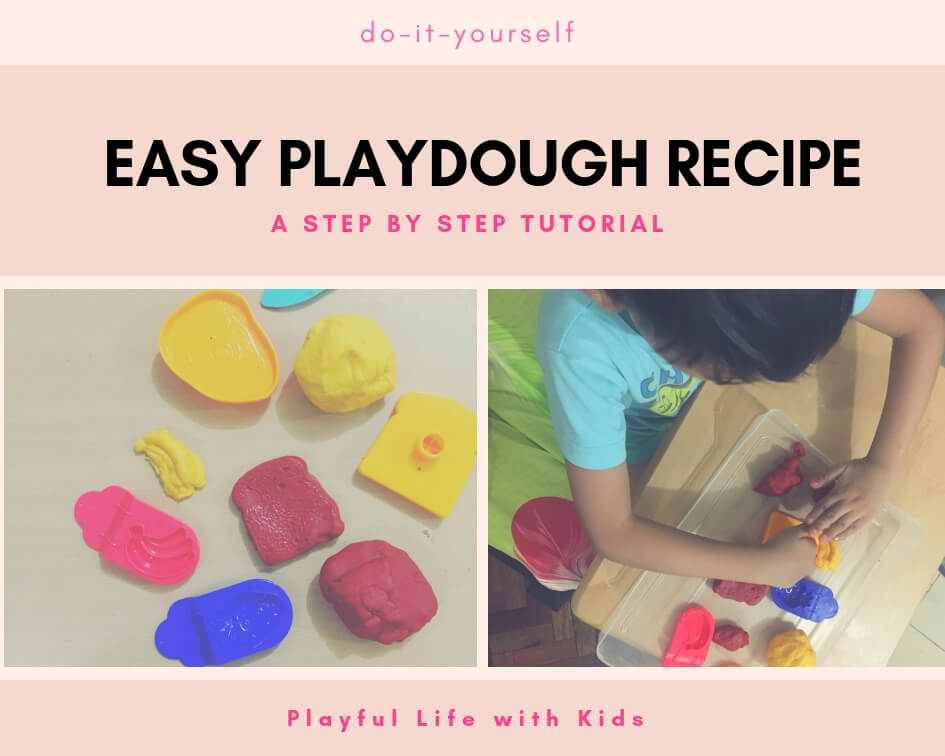 Playful Life with Kids Easy Playdough Recipe 1