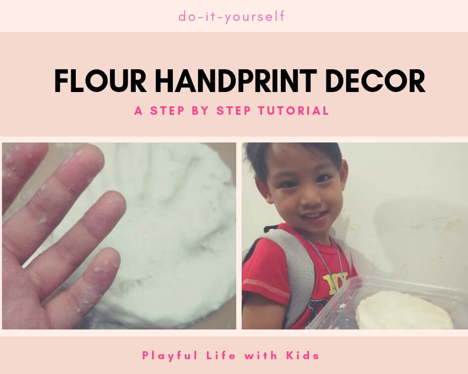 Playful Life with Kids Flour Handprint Decor 1