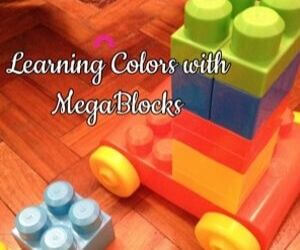 How to Teach colors to Toddlers using Megablocks Playful Life with Kids 1
